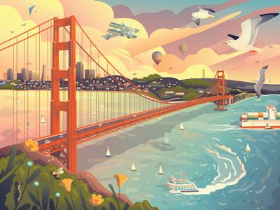 Golden Gate Bridge Puzzle
