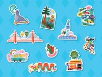"""""""I Heart San Francisco"""" Stickers"""