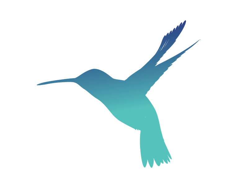 PostScript Outreach logo hummingbird