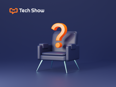 The Guest Chair orange mysterious mystery event show sofa chair question mark question tech render b3d cycles blender 3d