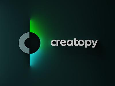 Creatopy 3D Logo emission glow blender3d render 3dart logo creative logo creatopy dribbble playoff b3d cycles blender 3d
