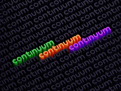 Continuum 3D 3dart isometric typography text illustration render b3d cycles blender 3d