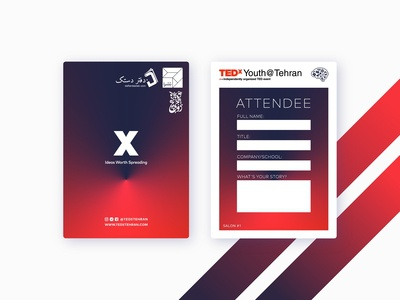 TEDx Youth Tehran 2018 - Attendee Badges