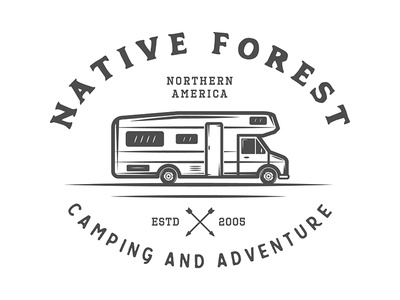 Camping and adventure Emblem forest travel nature camping adventure vintage badge emblem logo
