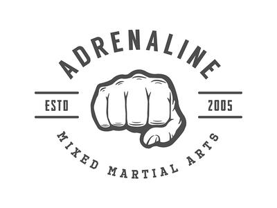 Mixed Martial Arts Emblem active training gym arts martial mma fight vintage emblem badge logo