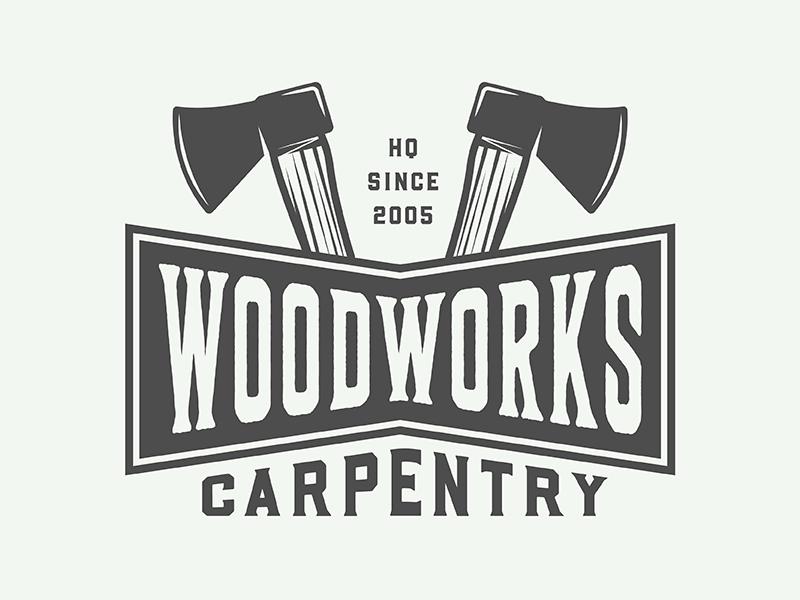 Vintage Carpentry Emblem forest mark design woodwork carpentry axe illustration vector badge emblem logo