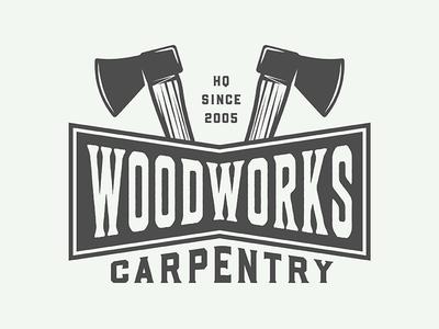 Vintage Carpentry Emblem