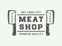 Vintage butchery emblem