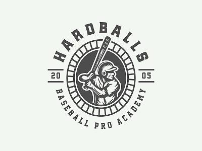 On of my baseball emblems game ball mascot vintage american play badge emblem logo sport baseball