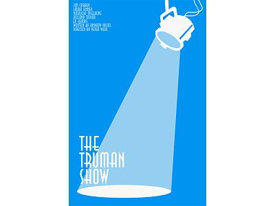 The Truman Show Minimalistic Movie Poster vector design illustration adobe illustrator
