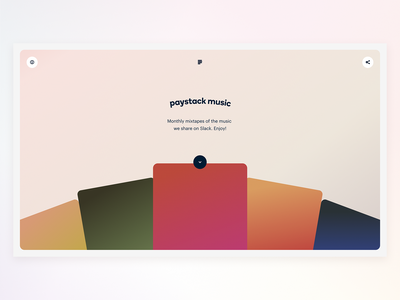 Paystack Music ui slack spotify animation paystack