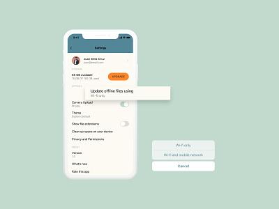 Settings adobexd ios app ios app design ios uidesign ui cloudapp cloud settings settings icon settings page settings ui settings setting daily 100 challenge dailyuichallenge dailyui daily