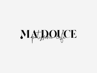 Ma Douce   Patisserie - Cafe calligraphy serif drop caramel chocolate cafe macaron greece patisserie pastry minimal logotype logos logo design logodesign logo branding