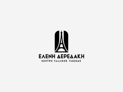 Eleni Deredaki   Institute de Français school symbol flag french tower eiffel france mark greece minimal logotype logos logo design logodesign logo branding