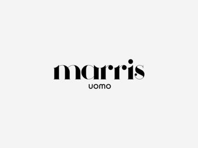Marris Uomo | Men's Clothing typography uomo men clothes clothing golden ratio goldenratio typeface typogaphy vector design greece minimal logotype logos logo design logodesign logo branding