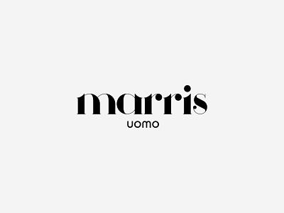 Marris Uomo   Men's Clothing typography uomo men clothes clothing golden ratio goldenratio typeface typogaphy vector design greece minimal logotype logos logo design logodesign logo branding