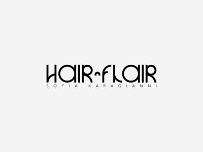 Hair n Flair   Sofia Karagianni typeface scissor flair hairdresser hair salon hair vector typography greece minimal logotype logos logo design logodesign logo branding