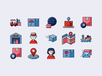 Shipping and Delivery Icon Set delivery service shipping iconography icon icon design icons