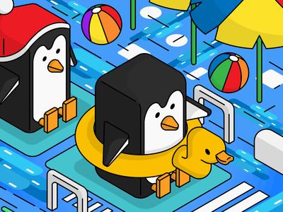 Isometric Penguin Large