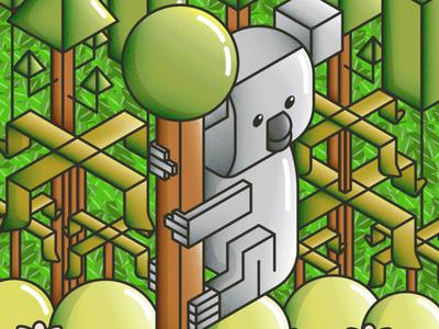 Isometric Koala
