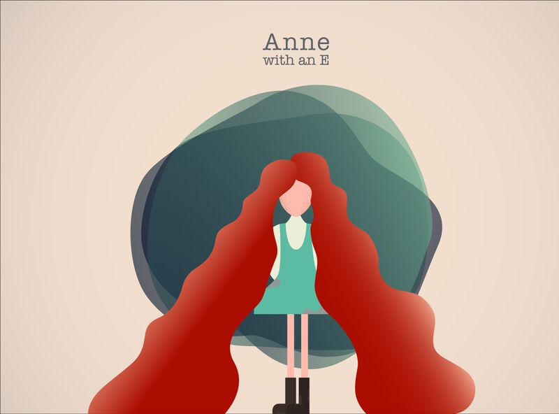Illustration Practice - Anne with an E character movies gradiant hair girls illustraion