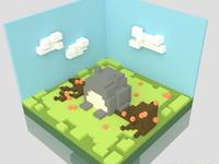 Totoro 3D Modeling