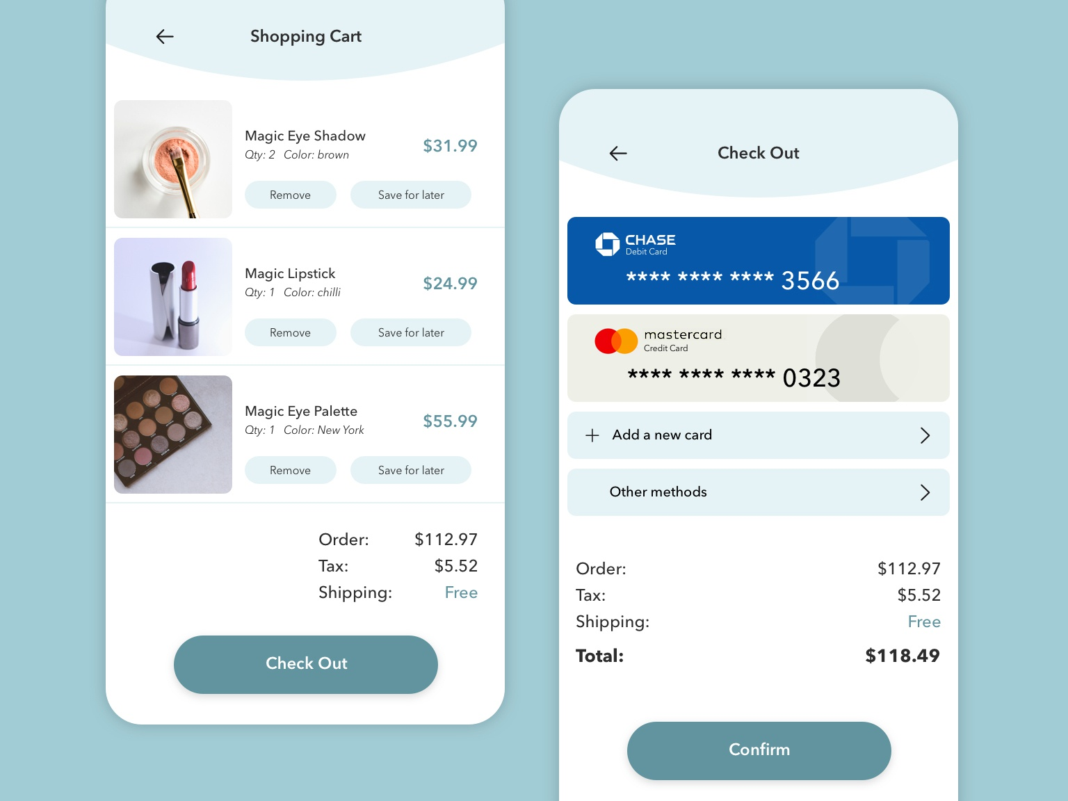 UI Practice - 002 daily ui shopping app check out uidesign