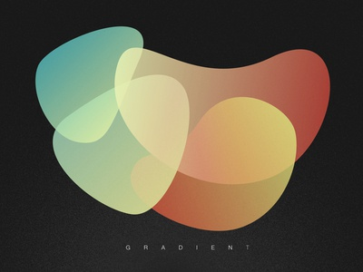 Illustration Practice - Gradient texture abstract graphic design poster gradient