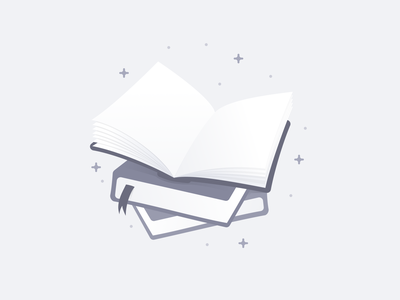 Books Illustration - Empty State pages books interface ui design illustration topic empty state