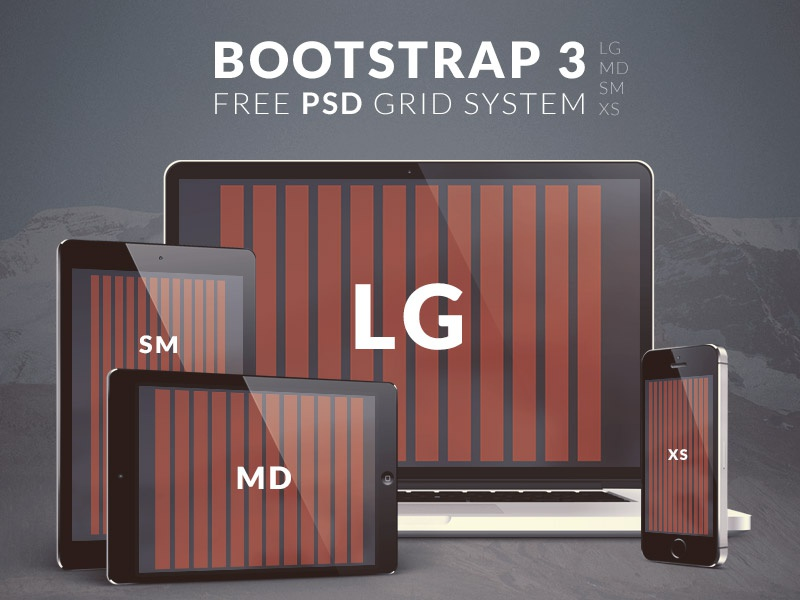 Free Bootstrap 3 PSD Grid System by Emiliano Cicero on Dribbble