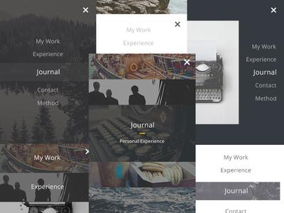 8 UI for Mobile Menu - Free PSD
