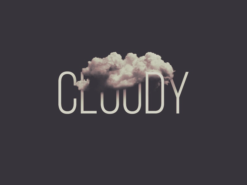 Cloudy weather text effect photoshop text weather effect type
