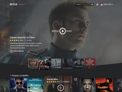 Netflix Restyle home ui design restyle netflix