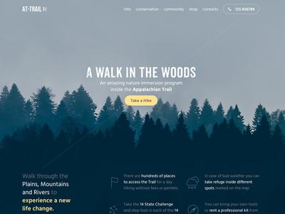 AT Trail  user interface ui design landing page