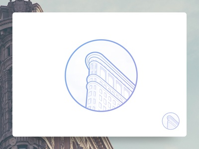 Flatiron Building Icon - Illustration building outline new york architecture illustration icons icon flatiron