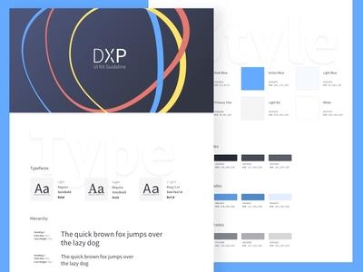DXP Guideline ui kit color guideline baseline