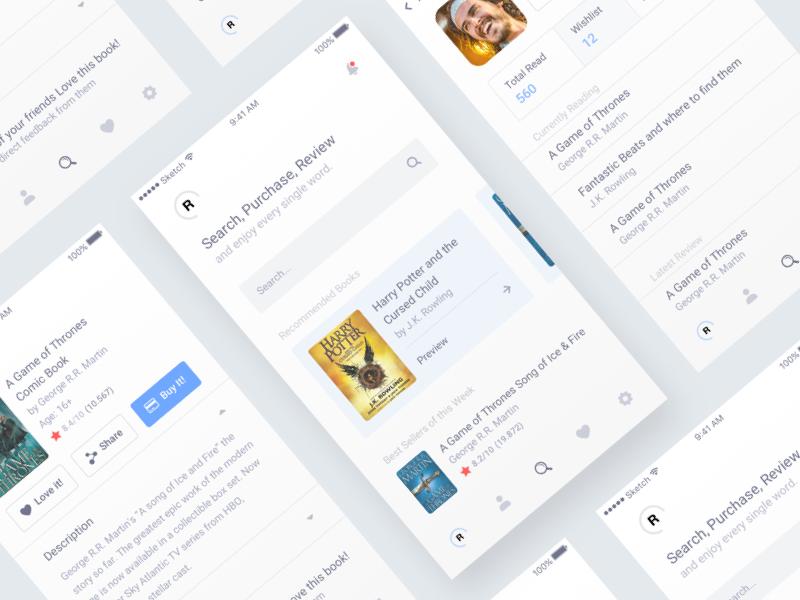 Book Finder App ios read dark suggestion profile white search app finder book
