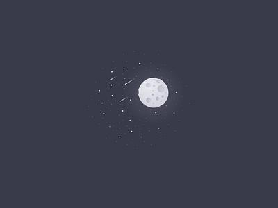 Empty Space Illustration dark stars universe moon state empty illustration