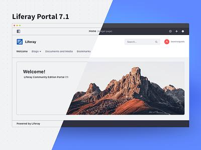 Liferay Portal 7.1 image effect wireframe desktop application dashboard home