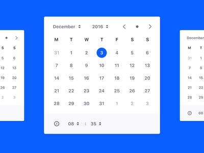 Date and Time Picker (draft) component user interface hours days picker calendar time date