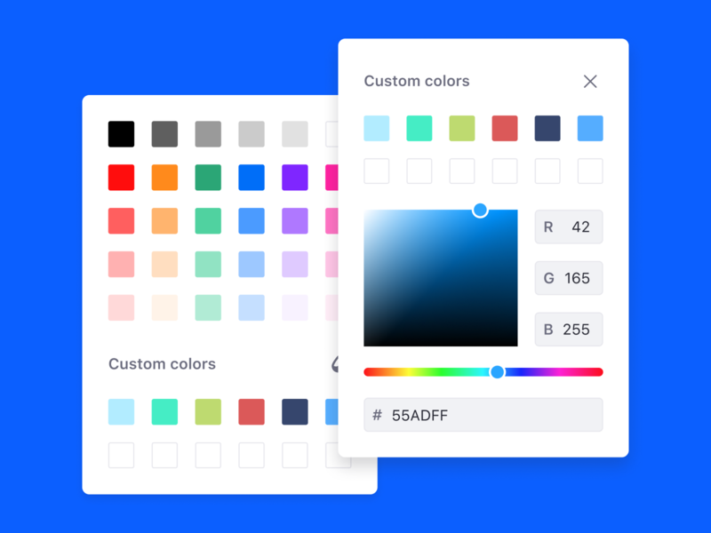 Lexicon Color Picker colors color picker figma component picker color