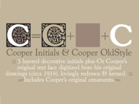 Cooper Initials & OldStyle