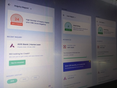 Sneak Peak interface bank app finance app credit score mobile ui design