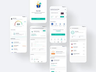 FinHealth V1 (Credit Score App) score fintech app design user experience user interface userinterface finance app finance cibil score loan app loan credit card credit score
