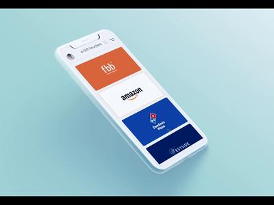 e-Gift Voucher voucher design ios app ios app user experience user interface interaction protopie interactiondesign gift card card e-gift