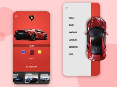 Car app Interface Design
