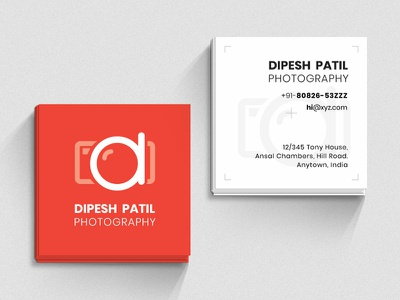 Business Card photography visiting card business card flat branding design illustration