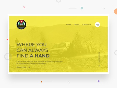 RoadMarshals web landing page design ux ui
