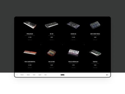 KORG Website Concept