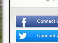 iPhone App Social Connect Buttons